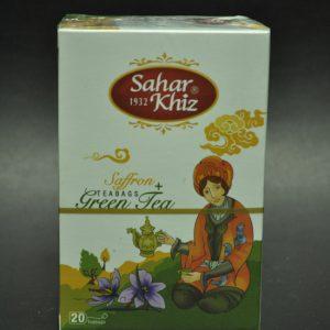 چای سحرخیز، چای کیسه ای سبز با زعفران