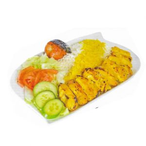 Chicken Breast With Basmati Rice and Salad, Toronto